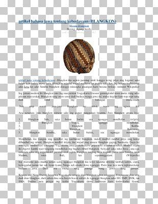 Javanese Blangkon Culture Article Gunung Kidul Regency PNG
