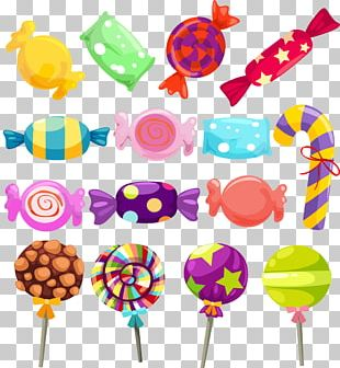 Lollipop Gumdrop Cotton Candy Candy Cane PNG