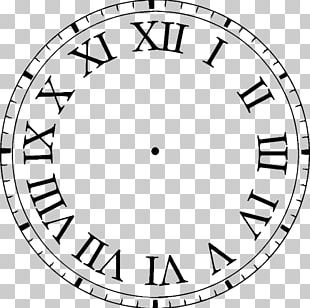 Clock Face Roman Numerals Digital Clock PNG