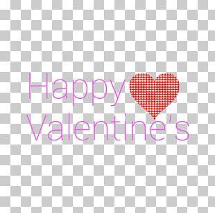 Happy Valentine's Modern Purple Text PNG