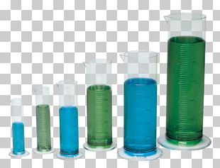 Plastic Bottle Glass Graduated Cylinders PNG