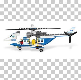 Helicopter Lego City Toy Lego Minifigure PNG