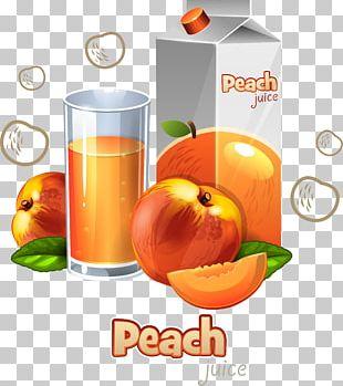 Juice Orange Drink Fruit Peach Food PNG