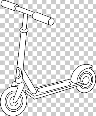 Kick Scooter Coloring Book Drawing Car Transport PNG