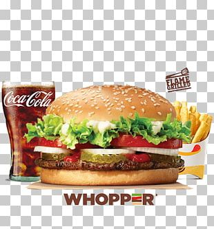 Whopper Hamburger French Fries Junk Food Burger King PNG
