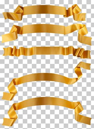 Ribbon Stock Photography Banner Gold PNG