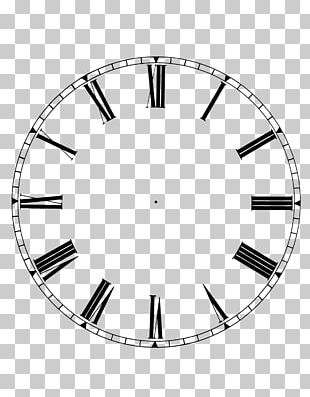 Floral Clock Kitchen Bathroom Wall PNG