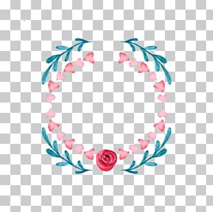 Flower Watercolor Painting Wreath Crown Pin PNG