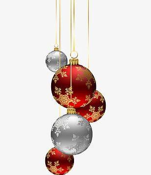 Christmas Ball Ornaments PNG