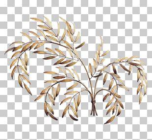 Gold Leaf Sculpture Art Metal Leaf PNG