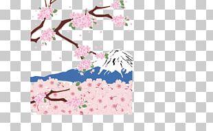 Mount Fuji Cherry Blossom PNG