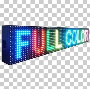LED Display Light-emitting Diode Display Device Signage Scrolling PNG