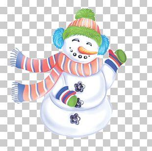 Winter Snowman Designer PNG