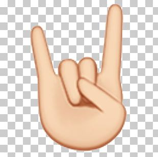 Sign Of The Horns Emoji Sign Language Emoticon IPhone PNG