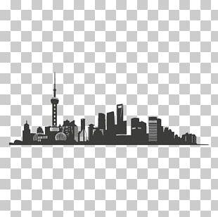 Oriental Pearl Tower Skyline Silhouette PNG