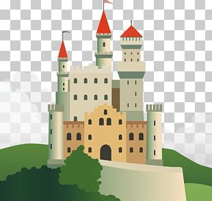 Castle Flat Design Illustration PNG