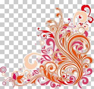 Floral Design Art Nouveau PNG