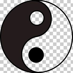 Yin And Yang Symbol Information Black And White PNG