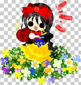 Snow White Floral Design Illustration PNG