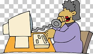 Woman Telephone Illustration PNG