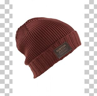 Beanie Knit Cap Brown Yavapai College PNG