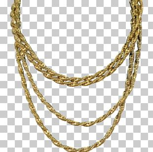 Earring Chain Necklace Jewellery Gold PNG
