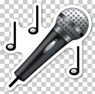 Microphone Emojipedia Sticker PNG