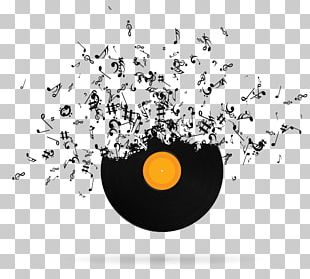 Musical Note Phonograph Record PNG