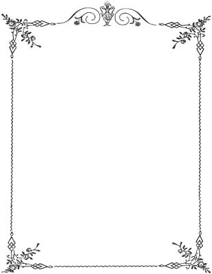 Borders And Frames Black And White PNG
