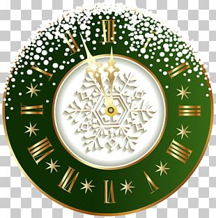 New Year's Day Clock PNG