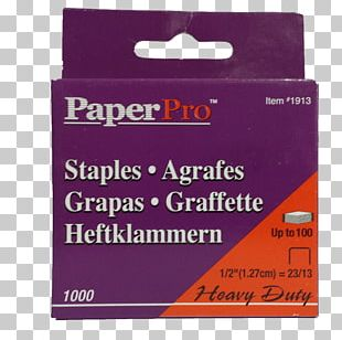 Paper Staples Stapler Office Supplies PNG
