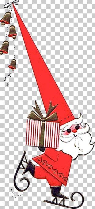 Christmas Tree Santa Claus Christmas Card PNG