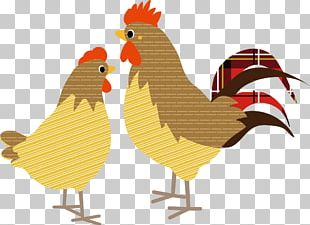 Rooster Chicken New Year Card Japanese New Year PNG
