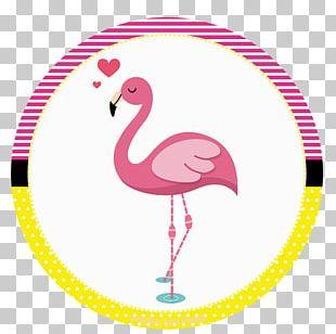 Flamingos Party Favor Birthday Convite PNG