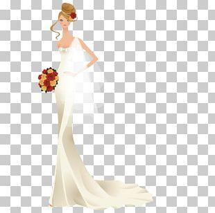 Wedding Dress Shoulder Bride Party Dress PNG