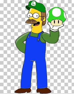Ned Flanders The Simpsons: Tapped Out Homer Simpson Maude Flanders Luigi PNG