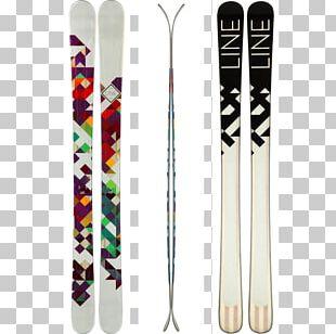 Ski Bindings Line Skis Ski Poles Skiing PNG