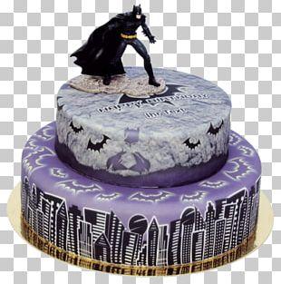 Birthday Cake Torte Cake Decorating Batman PNG
