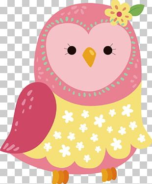 Pink Owl PNG