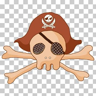 Piracy Jolly Roger Cartoon Illustration PNG