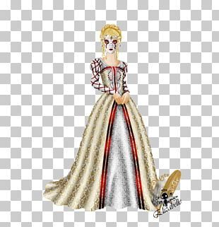 Costume Design Barbie Character PNG