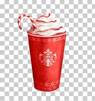 Coffee Hot Chocolate Candy Cane Cafe Starbucks PNG