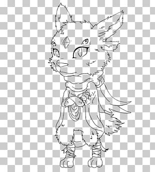 Whiskers Line Art Drawing Cat Character PNG