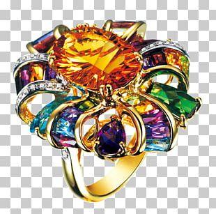 Gemstone Wedding Ring Diamond PNG