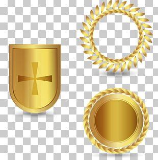 Vecteur Golden Shield Project Computer File PNG