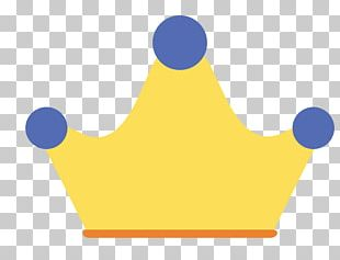Yellow Blue Crown PNG