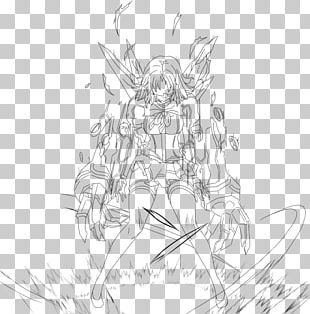 White Tree Line Art Character Sketch PNG