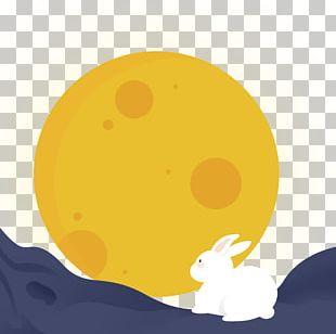 Mid-Autumn Festival Mooncake Moon Rabbit Cartoon PNG