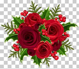 Christmas Rose Flower Bouquet PNG