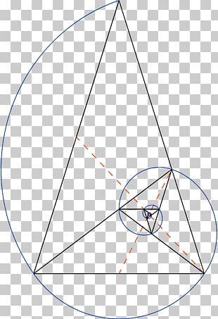 Golden Triangle Golden Spiral Golden Ratio Fibonacci Number PNG
